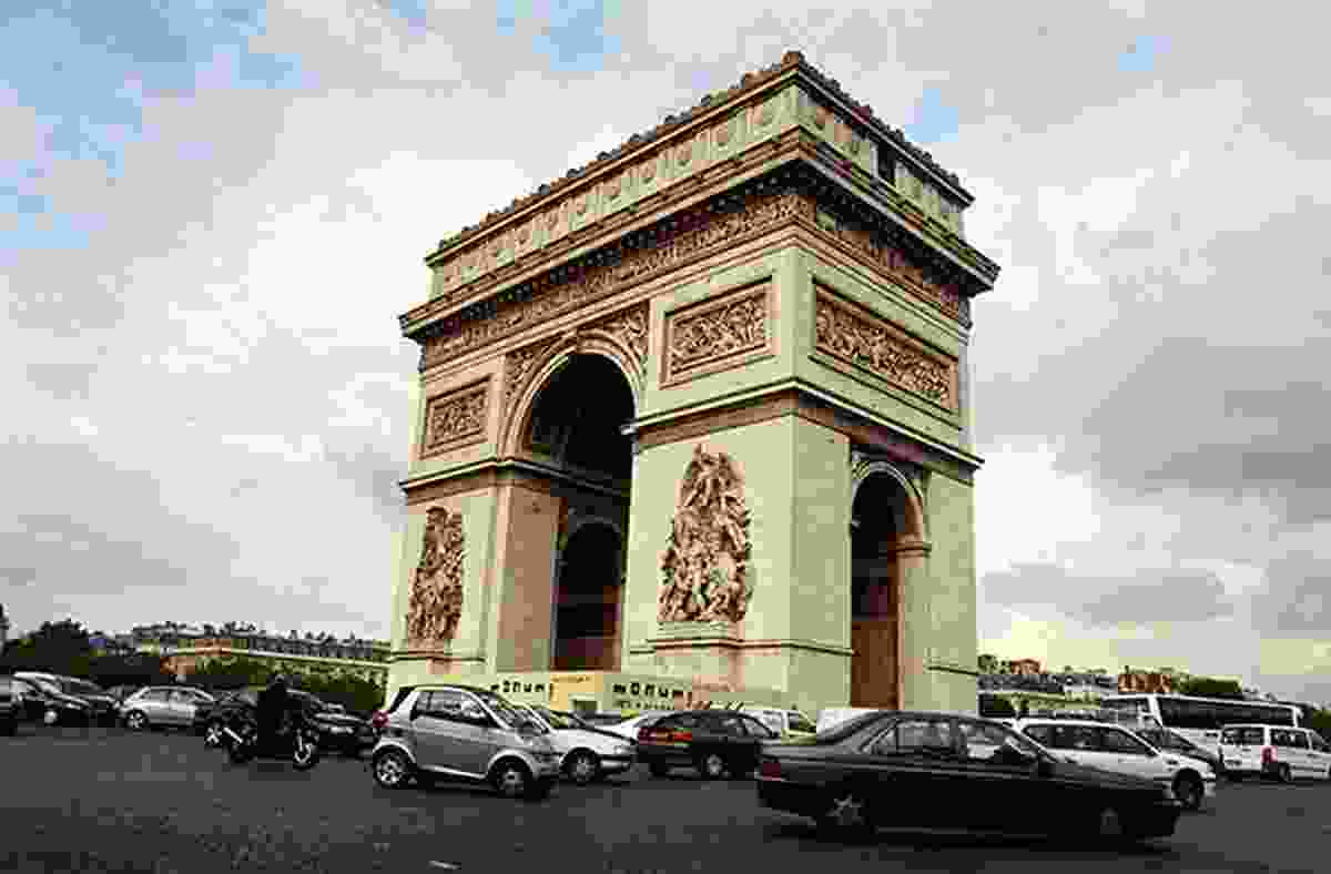 Arc de Triomphe, a Paris landmark.