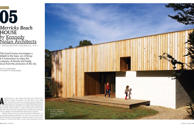A preview from the magazine: Merricks Beach House by Kennedy Nolan Architects.