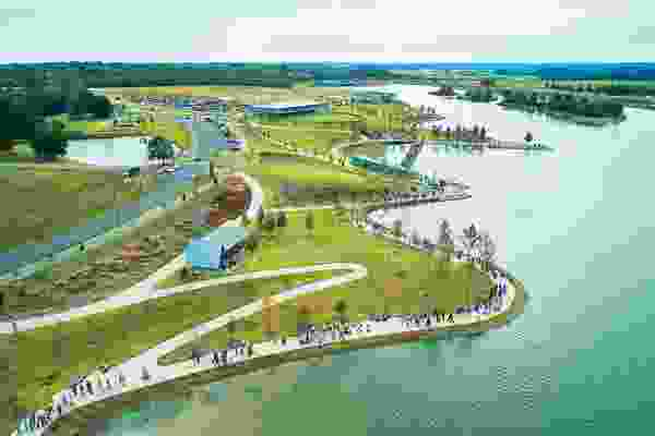 Shelby Farms Park in Memphis by James Corner Field Operations provides enhanced habitat and recreation opportunities.
