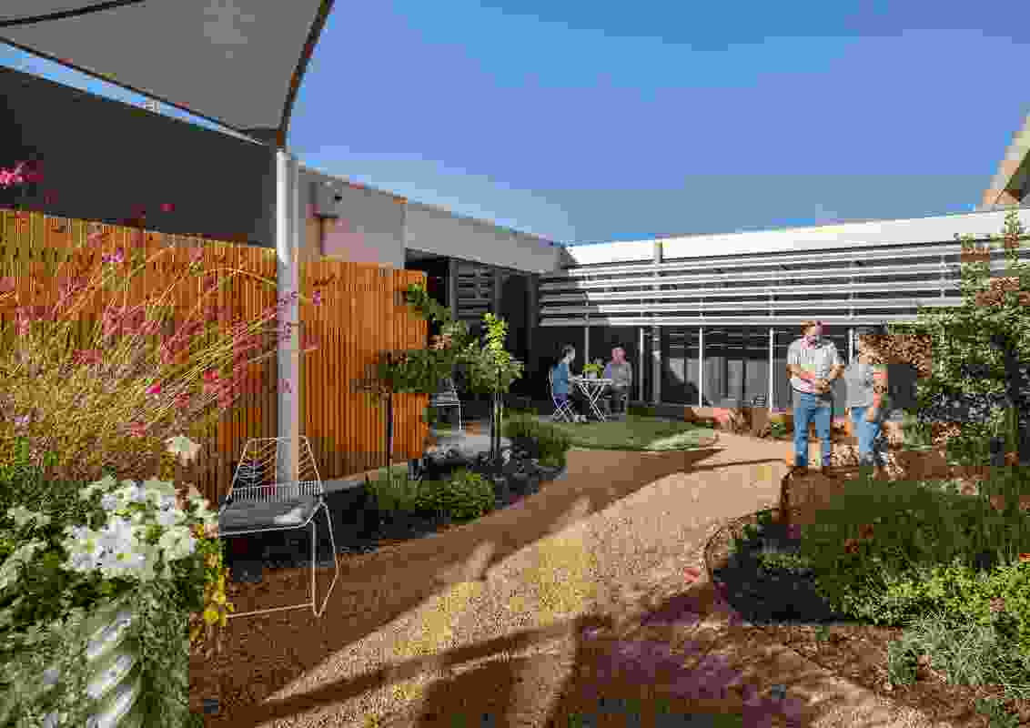 Goulburn Valley Health Therapeutic Courtyard by Spiire won a Landscape Architecture Award in the Community Contribution category.