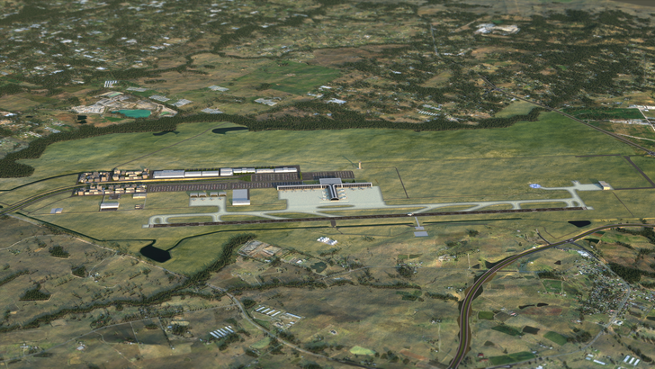 Proposed stage one airport layout at Badgerys Creek.