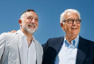Hashim Sarkis (left) and Paolo Baratta (right).