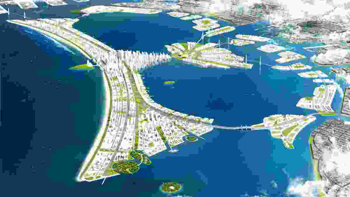 The Indonesian city's $US40b project will incorporate a 40km seawall to protect Jakarta as it sinks up to 20cm every year.