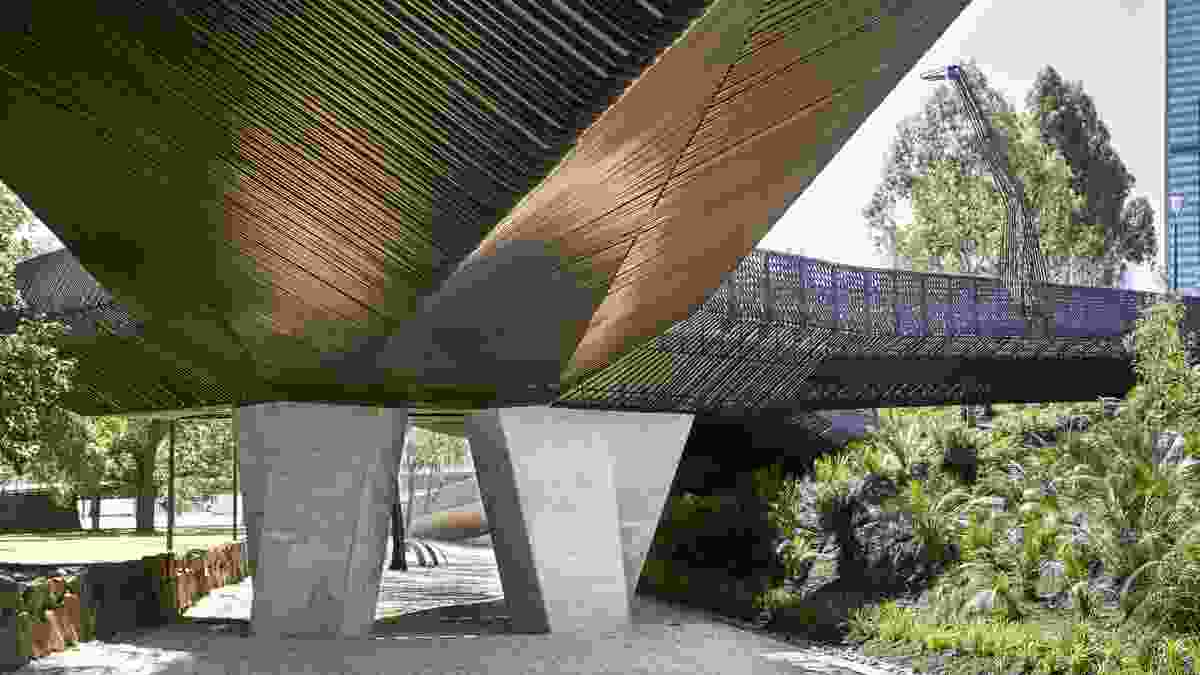 Tanderrum Bridge by John Wardle Architects and NADAAA in collaboration.