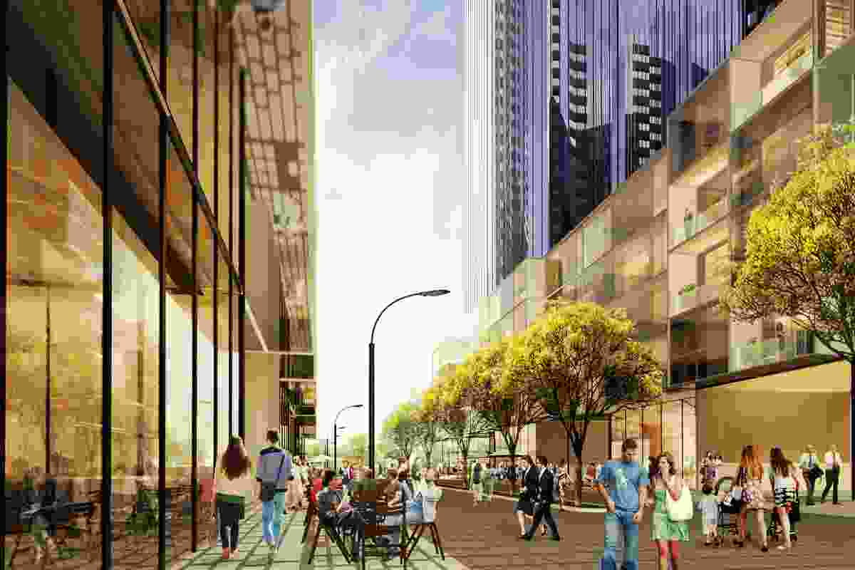 A view of the approved three-tower development at the old Melbourne Convention Centre site.