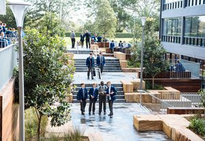 Therry Courtyard, Saint Ignatius College, Riverview by Arcadia Landscape Architecture.