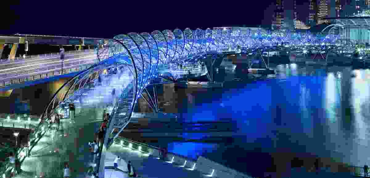 Helix Bridge in Singapore by Cox Architecture.