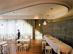 Interior of the restaurant on the ground floor.Image: Anthony Browell