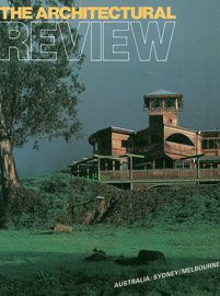 Hackford house on The Architectural Review cover, 1985.