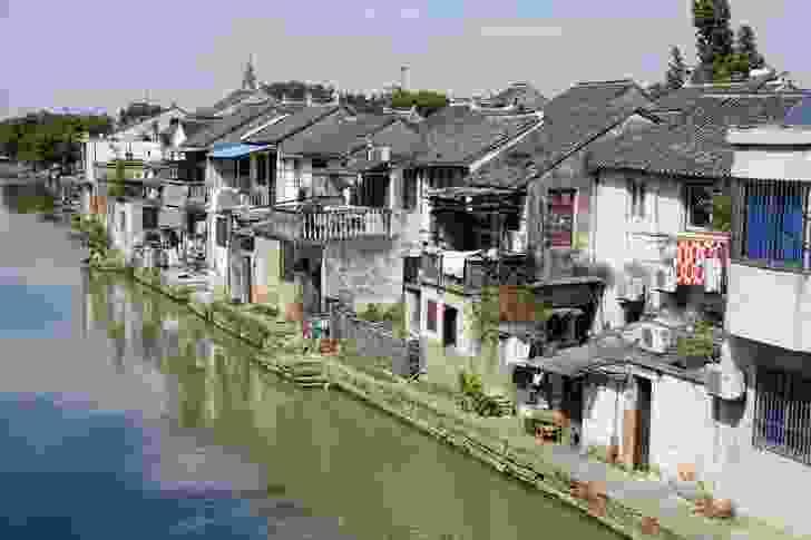 Tongli floating town in Suzhou.