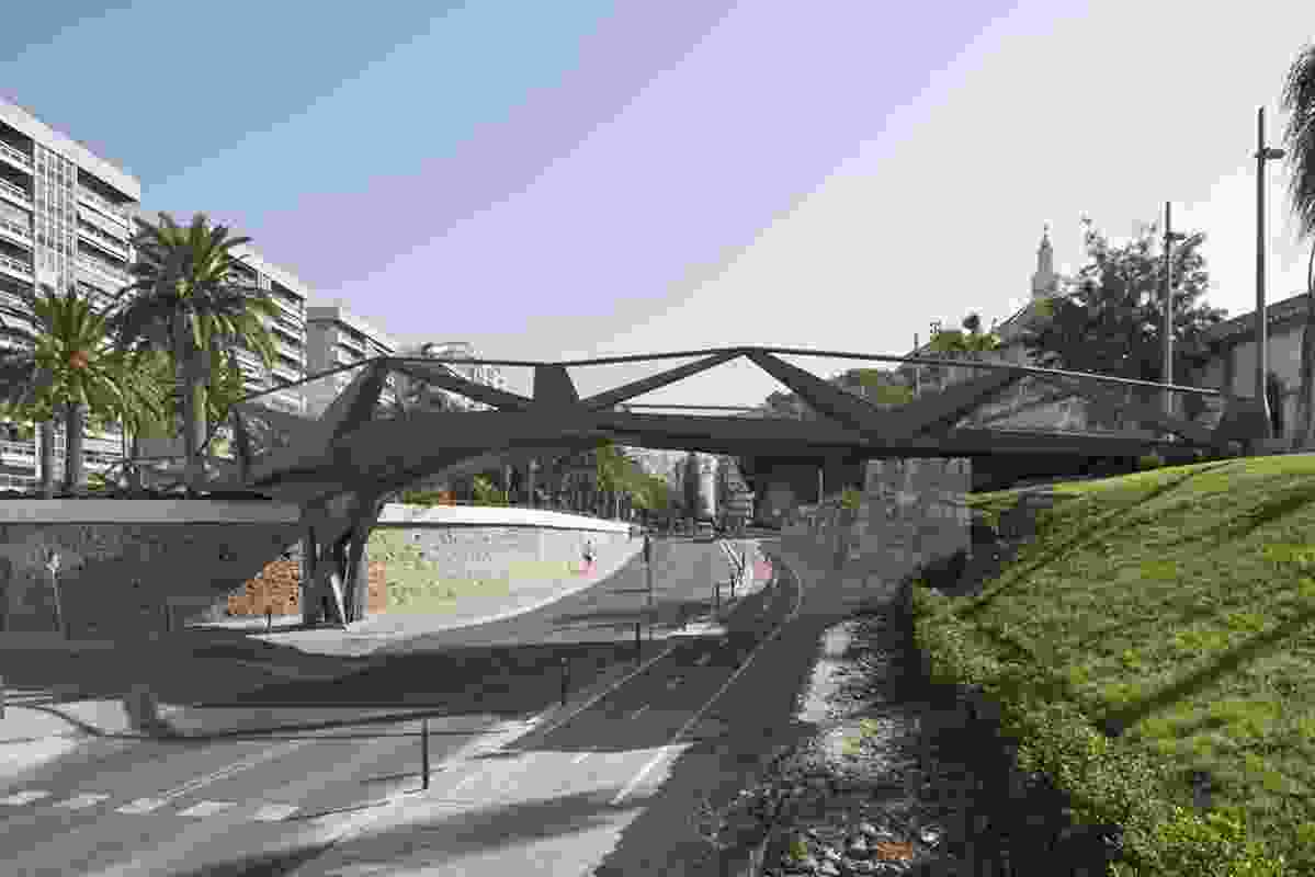 Motril Footbridge by Gijon Arquitectura and Guallart Architects.