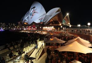 UrbanScreen explores the sculptural form of the Opera House and its role as a home for the performing arts.