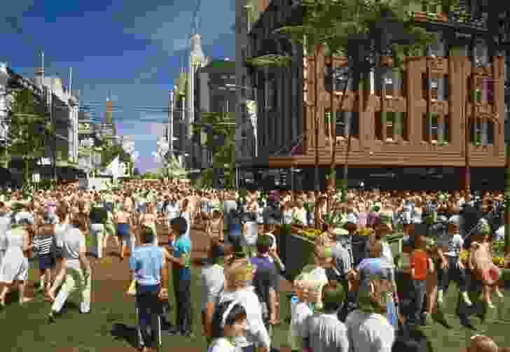 Greening of Swanston Street (1985).