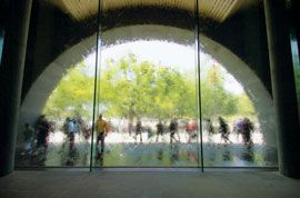 The relocated water wall.Image: John Gollings