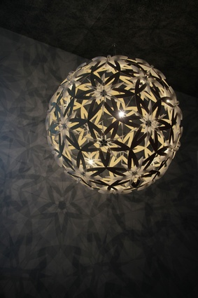 The new Manuka pendant by David Trubridge.