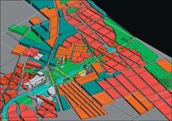 Chris Elliott's Visions for Green Square, isometric.