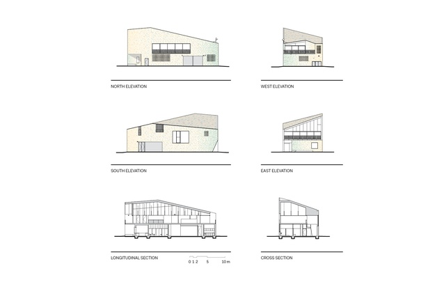 Kempsey Crescent Head Surf Life Saving Club elevations and sections.