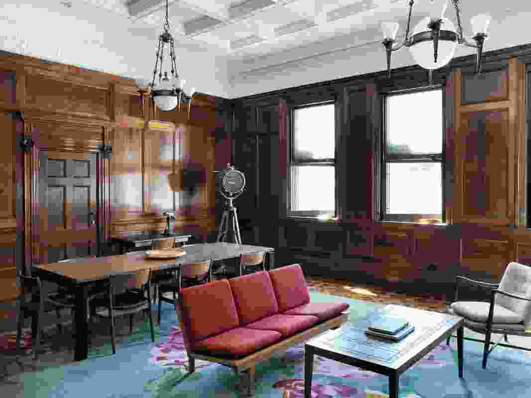 The spacious 100-square-metre C.U.B Suite is located in the former Carlton & United Breweries' boardroom.
