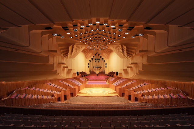Design for upgrades to the Sydney Opera House Concert Hall by ARM Architecture.