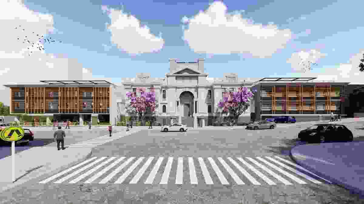 The proposed Nihon University campus at the former Newcastle courthouse by Azusa Sekkei.