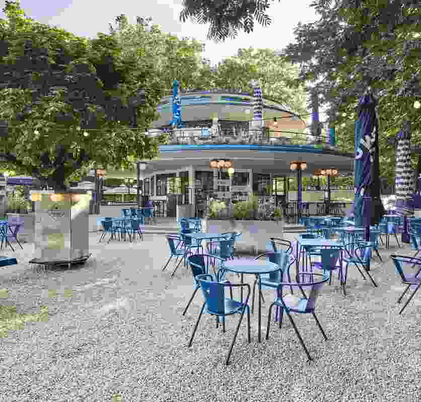 Blauwe Theehuis in Amsterdam, designed by Studio Modijefsky.