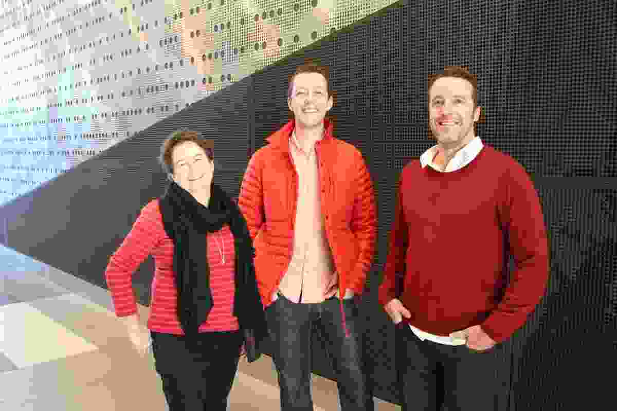Creative directors of the 2014 National Architecture Conference — Making — Helen Norrie, Adam Haddow, Sam Crawford.