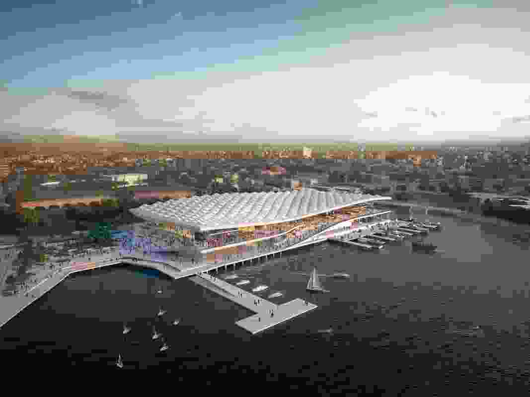The proposed new Sydney Fish Market by 3XN, BVN and Aspect Studios.