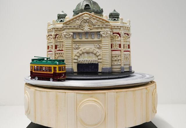 """Flinders Street Station - beyond the clocks"" by Zarah Noriel."