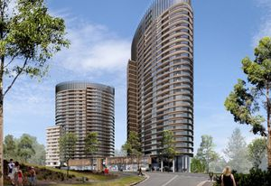 Render of Australia Towers II and III by Bates Smart.