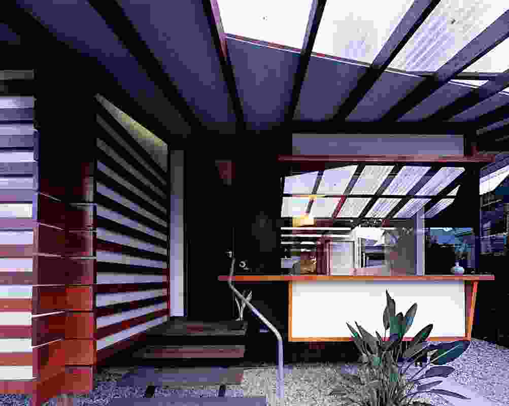 """Christensen residence 2004. A streetfront bay window inset into a """"reinvented verandah"""" space."""