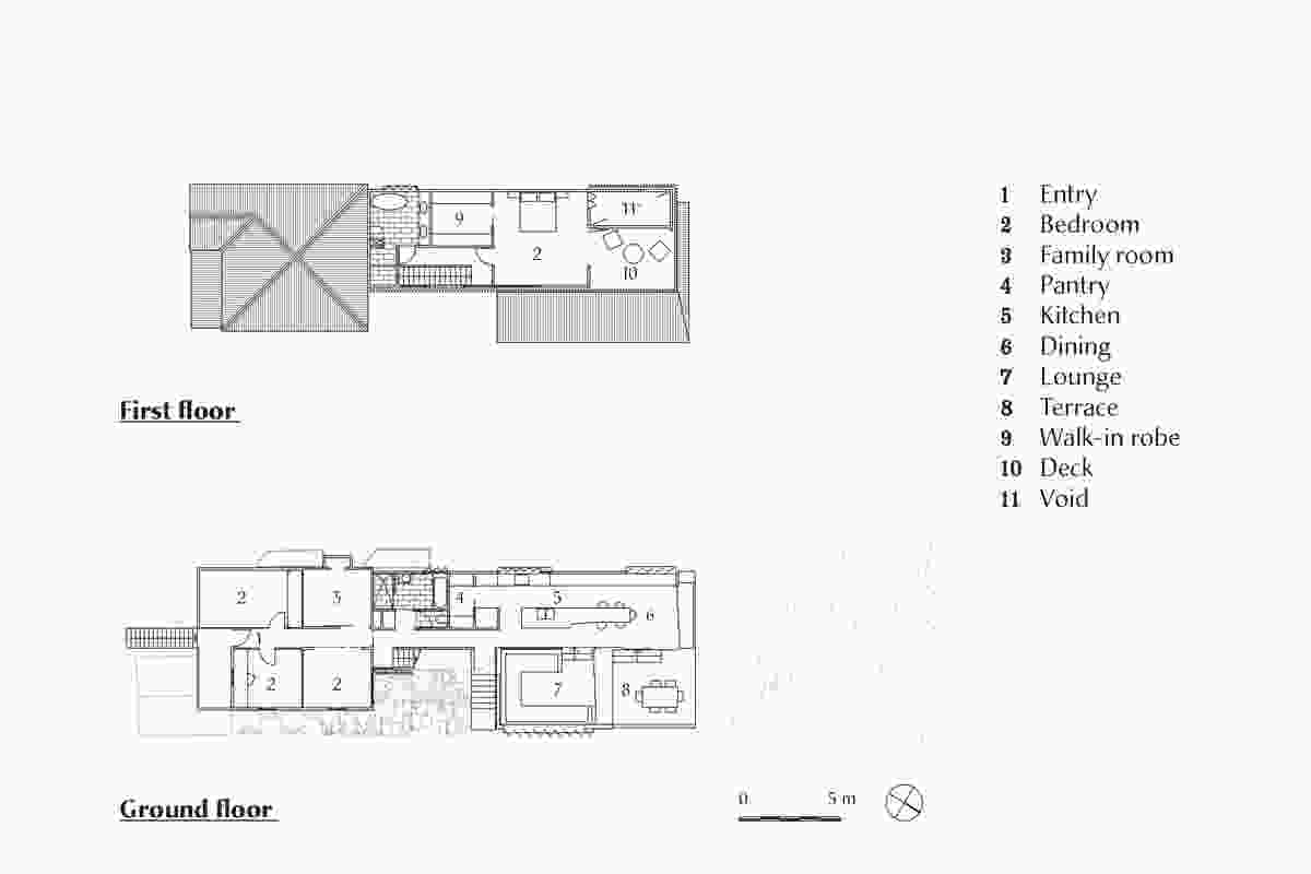 Plans of Paddington Residence by Kieron Gait Architects.
