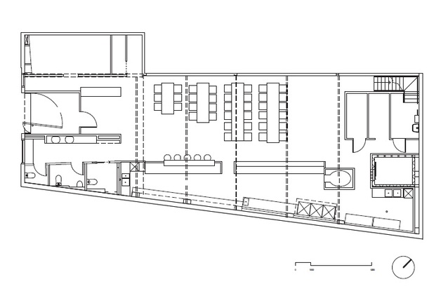 Plan of Garagistes by Paul Johnston Architects.