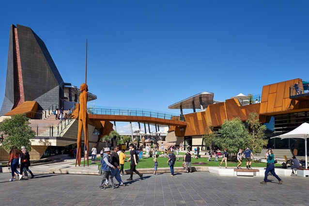 Yagan Square, designed by Lyons in collaboration with Iredale Pedersen Hook and Aspect Studios.