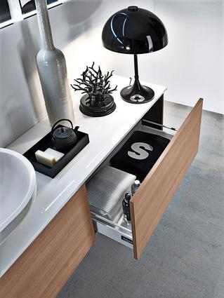 Falper Via Veneto bathroom cabinets.