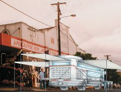 Kevin Hayes Architects' winning entry envisages MOBSTAs catering to the homeless all over Brisbane.