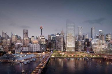 Indicative design for the proposed development at Cockle Bay Wharf.
