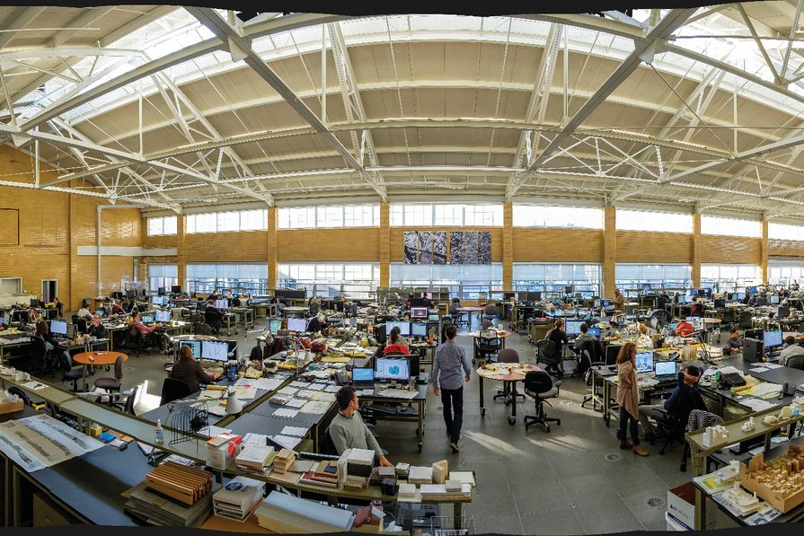 Inside the office of Kieran Timberlake in Philadelphia, PA, USA.