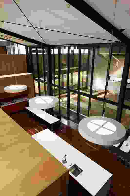 Large areas of glazing allow daylight to penetrate the building.