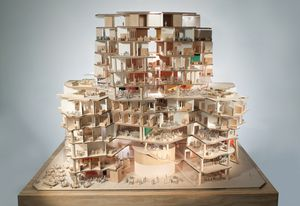 Scale model showing the interior; design by  Gehry Partners.