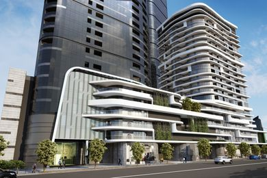 The approved Rothelowman Architects project at 60-82 Johnson Street in Fishermans Bend is being sold by the developer.