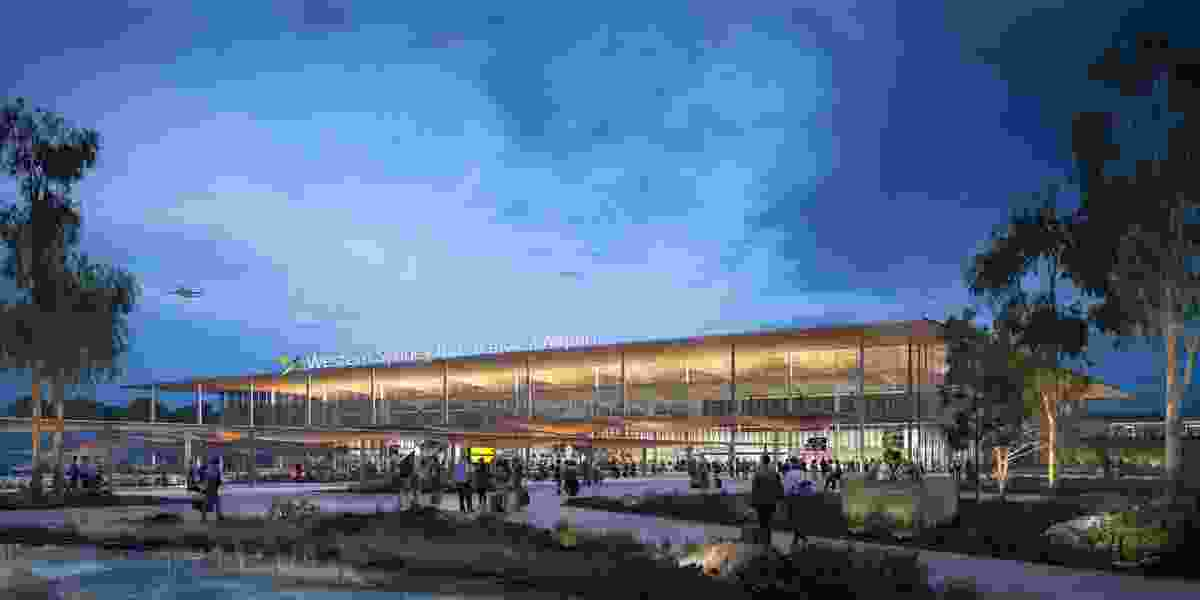 Concept design of the Western Sydney Airport passenger terminal by Zaha Hadid Architects and Cox Architecture.