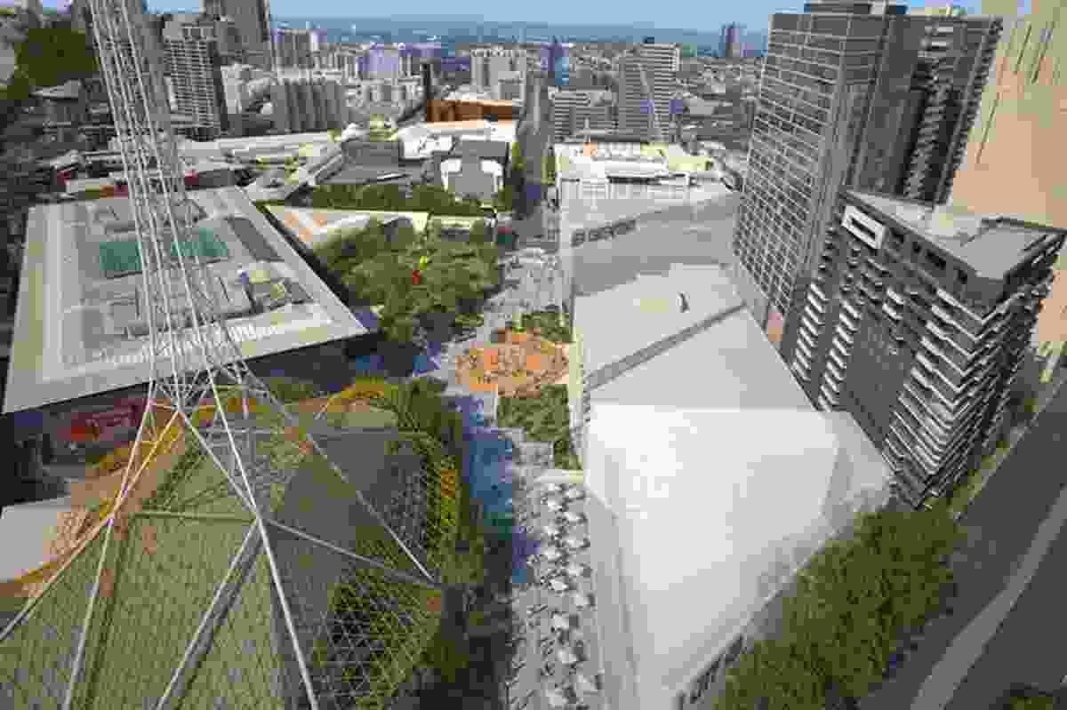 The proposed redevelopment of Melbourne's Southbank arts precinct will connect the new facilities with existing cultural institutions.