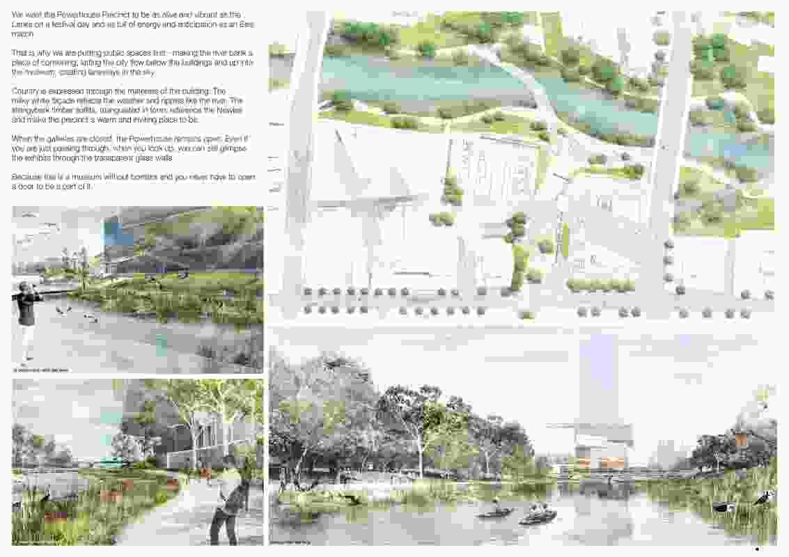Powerhouse Parramatta proposal by AL_A (UK) and Architectus (Australia).