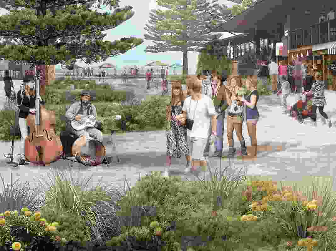 The Bay Lane precinct would become the main pedestrian prioritised area under the plan, encouraging activities such as markets, temporary seating and other events.