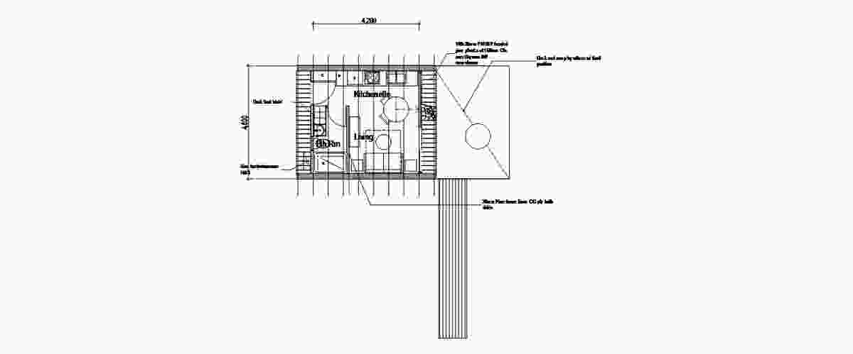 Plans showing the layout of the WikiPod, the first of the flat pack timber models that will be built at a WikiHouseAU workshop.