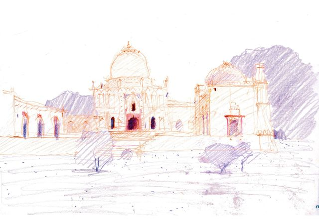 A drawing from Drawing for Landscape Architecture: Sketch to Screen to Site.