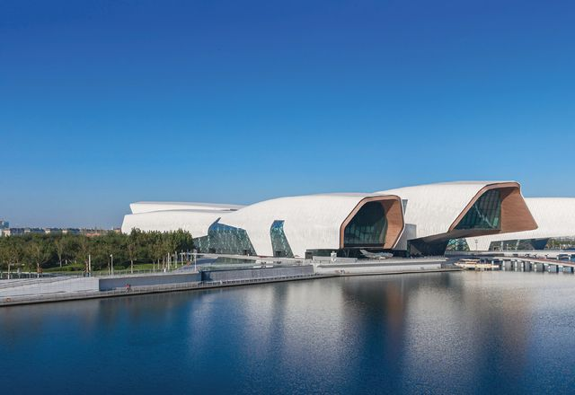 The museum and a cultural park have been built in the Binhai New Area on land reclaimed from Bohai Bay over the past decade.