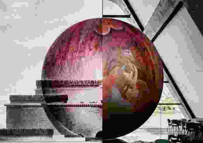 First prize winner: Chaos and Fertility by Pop Architecture and Hotham Street Ladies imagines it would shroud Boullee's sphere in a potent symbol femininity.