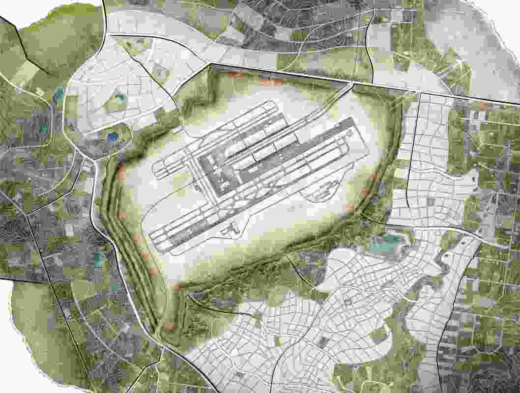 Proposed second Sydney airport at Badgerys Creek master plan.