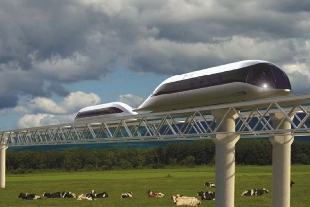 Conceptual proposal for a Sky Way elevated rail at Flinders University.